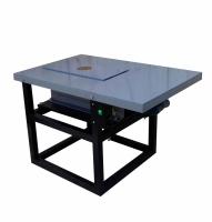 Вибростол лабораторный с электромагнитным креплением грузоподъёмностью до 80 кг для виброуплотнения и виброрассева с комплектом пригрузов на подставке,снижающей уровень вибрации.