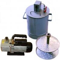 Вакуум-камера объёмом 20л. с электрическим вакуум-насосом для вакуумирования а/б образцов.